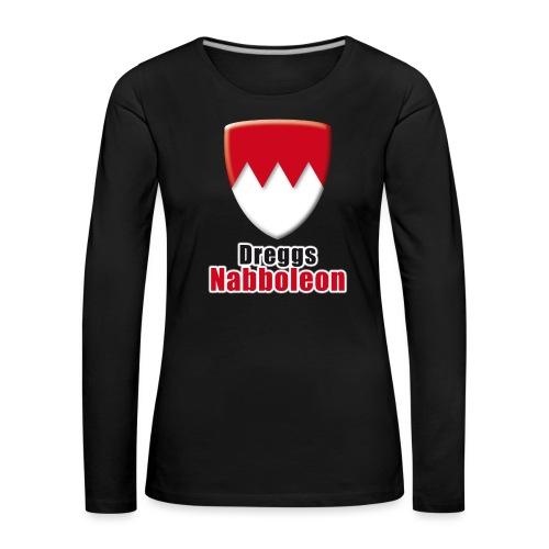 tshirt_franken_dreggsnaboleon_ohne_frank - Frauen Premium Langarmshirt