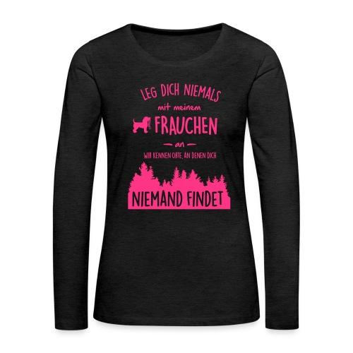 Vorschau: Mein Frauchen - Frauen Premium Langarmshirt