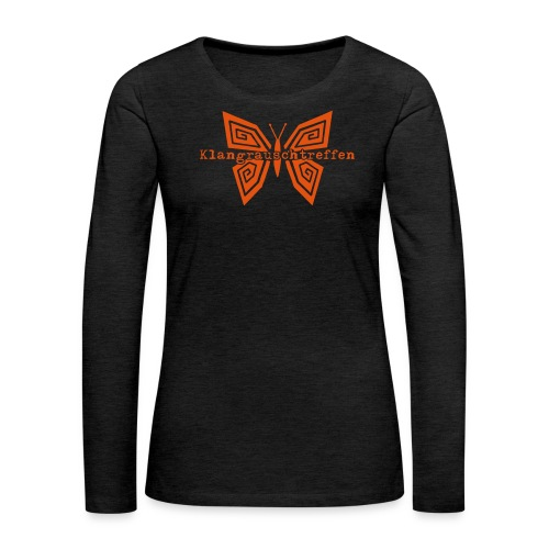 KlangRauschTreffen Schmetterling mit Schrift - Frauen Premium Langarmshirt