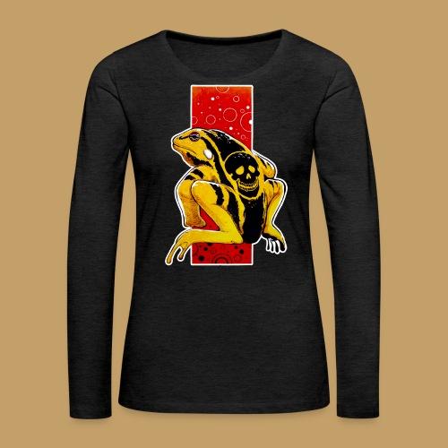 Death Frog - Koszulka damska Premium z długim rękawem