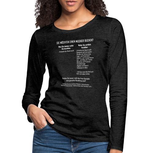 Musiker buchen - Frauen Premium Langarmshirt