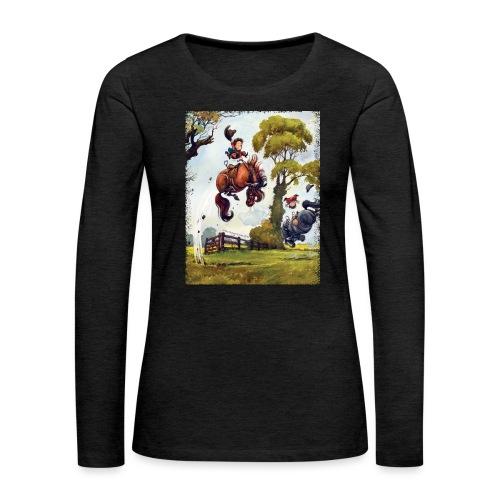 PonyRodeo Thelwell Cartoon - Women's Premium Longsleeve Shirt