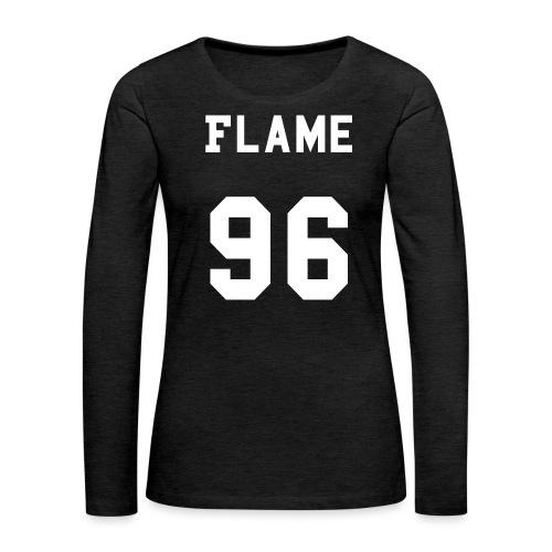 maglietta_flame_96 - Maglietta Premium a manica lunga da donna