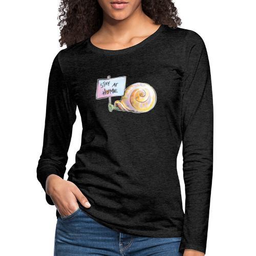 Stay at home - Frauen Premium Langarmshirt