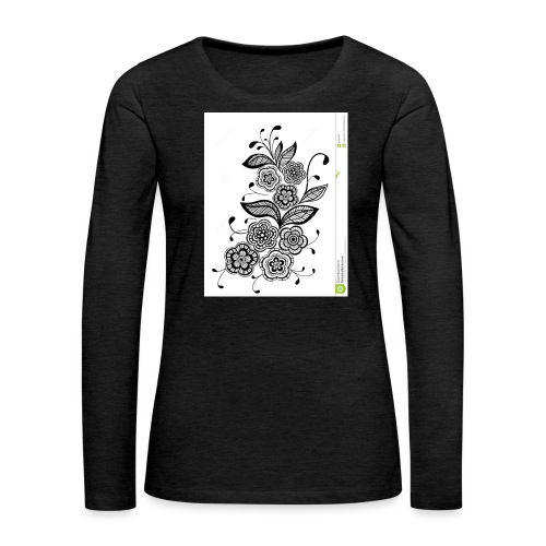 diseño de flores - Camiseta de manga larga premium mujer
