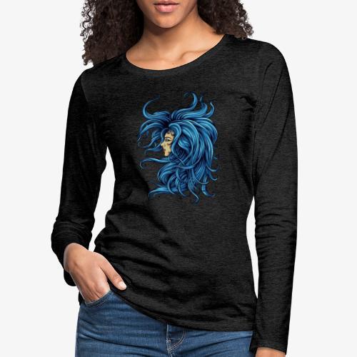 Dame dans le bleu - T-shirt manches longues Premium Femme