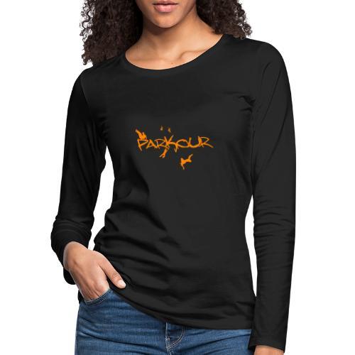 Parkour Orange - Dame premium T-shirt med lange ærmer