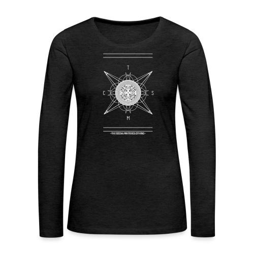 DE PIONEER [WIT] - Vrouwen Premium shirt met lange mouwen