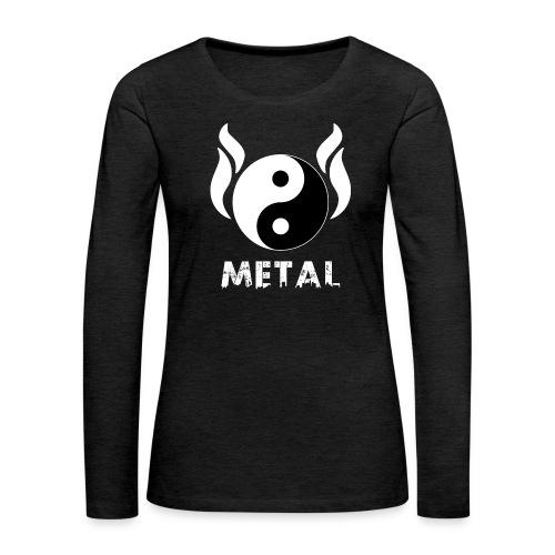 YIN YANG METAL - Frauen Premium Langarmshirt