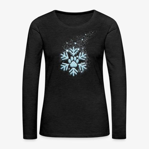 dog paw snowflake - Frauen Premium Langarmshirt