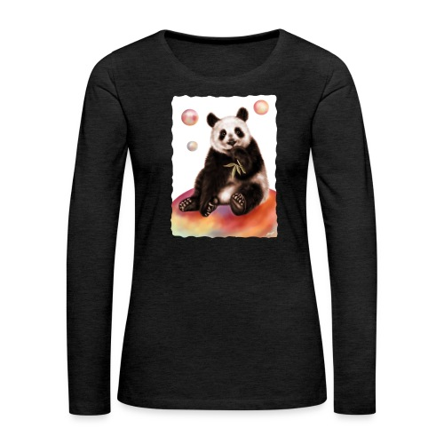 Panda World - Maglietta Premium a manica lunga da donna
