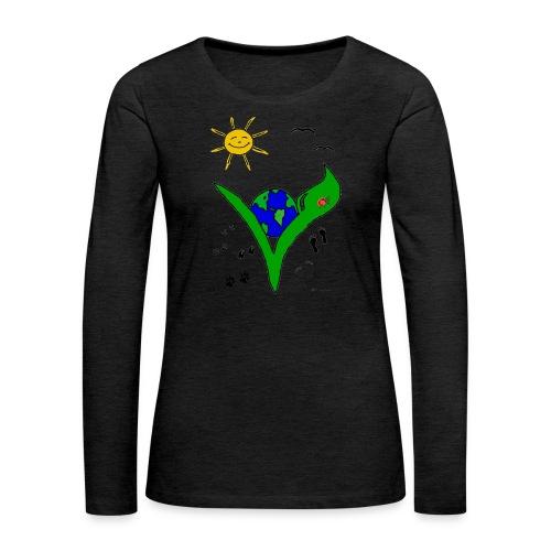Ein Logo geht um die Welt - Frauen Premium Langarmshirt