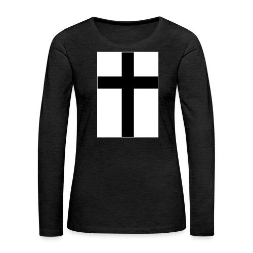 Cross - Långärmad premium-T-shirt dam