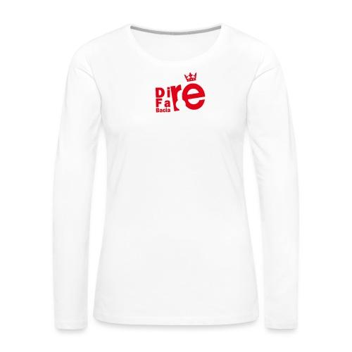 direbla - Maglietta Premium a manica lunga da donna
