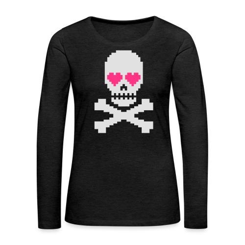 Skull Love - Vrouwen Premium shirt met lange mouwen