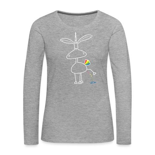Dru - bunt pinkeln - Frauen Premium Langarmshirt