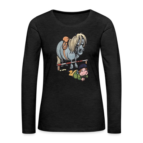 Thelwell Funny Showjumping Gone Wrong - Women's Premium Longsleeve Shirt