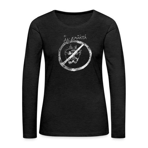 Mättää black - Långärmad premium-T-shirt dam