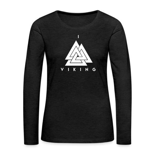 I lov Viking White - T-shirt manches longues Premium Femme