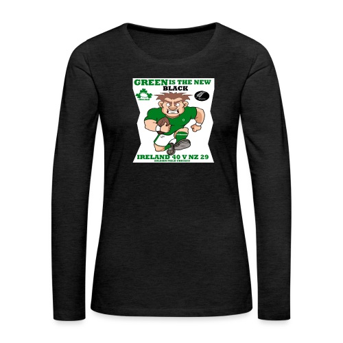 GREEN IS THE NEW BLACK !! - Women's Premium Longsleeve Shirt