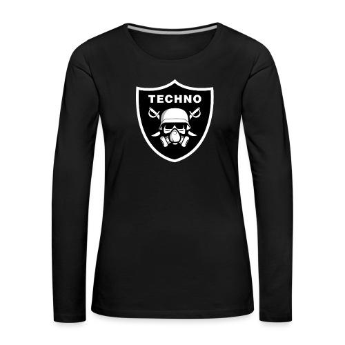 skull gasmask-01 - Frauen Premium Langarmshirt