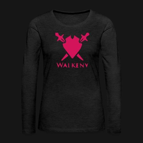 Das Walkeny Logo mit dem Schwert in PINK! - Frauen Premium Langarmshirt