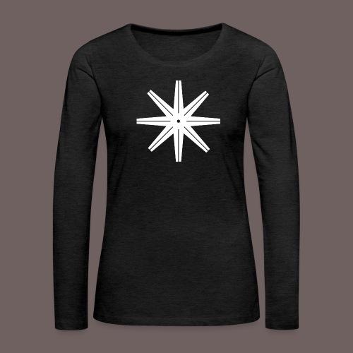 GBIGBO zjebeezjeboo - Rock - Octastar Blanc - T-shirt manches longues Premium Femme
