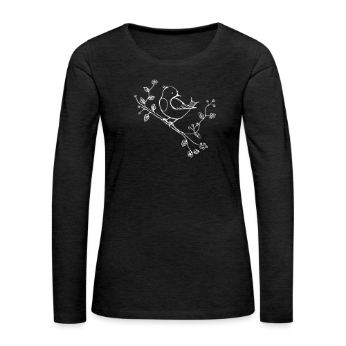 little Robin white - Frauen Premium Langarmshirt