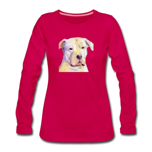 dogo argentino - Dame premium T-shirt med lange ærmer