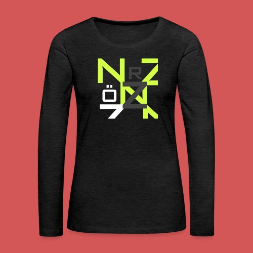 Nörthstat Group™ Clear Transparent Main Logo - Women's Premium Longsleeve Shirt