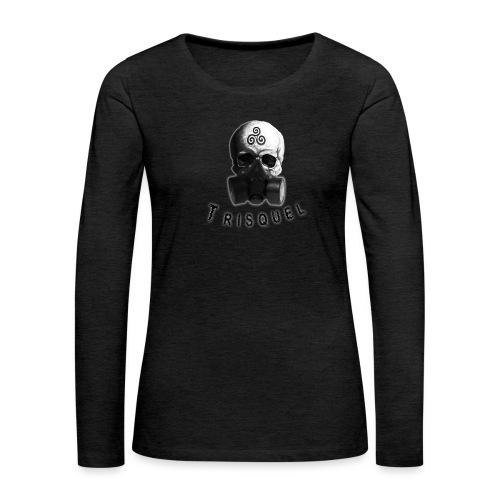 Trisquel Negro - Camiseta de manga larga premium mujer