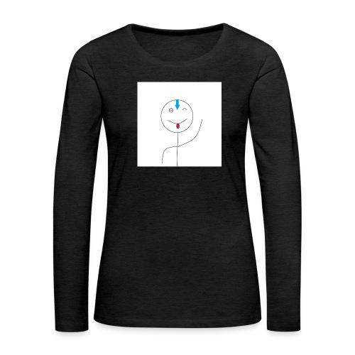 avatar stick man cover 6/6s - Dame premium T-shirt med lange ærmer