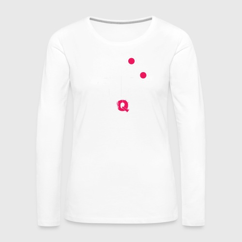 T-shirt FUQU logo colore bianco - Maglietta Premium a manica lunga da donna