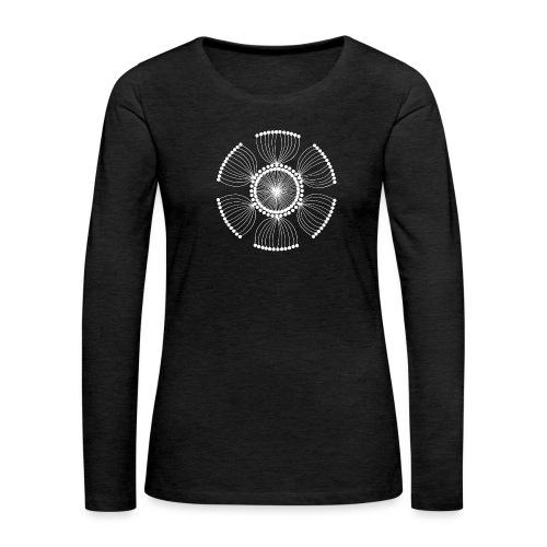 White Poppy Seed Mandala II - Women's Premium Longsleeve Shirt