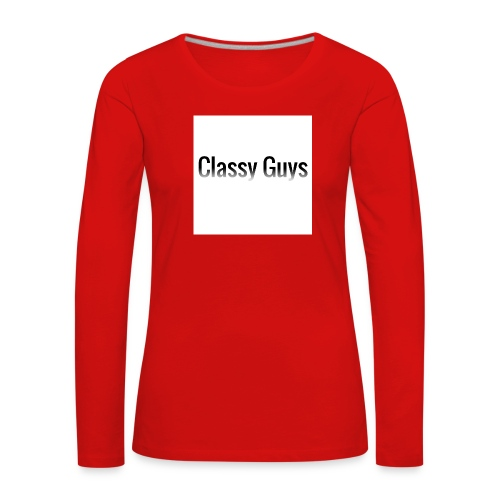 Classy Guys Simple Name - Women's Premium Longsleeve Shirt