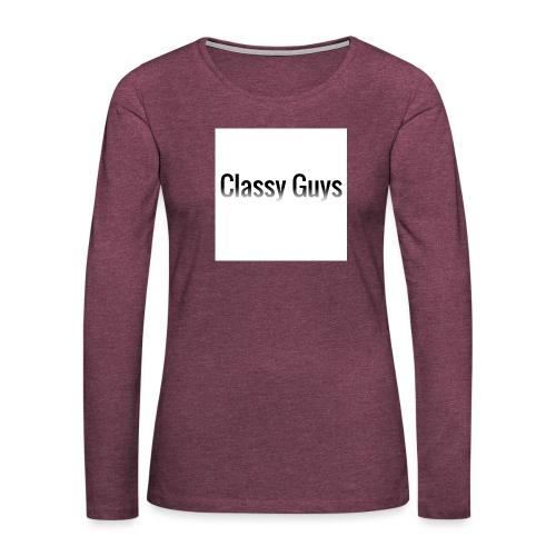 Classy Guys Simple Name - Women's Premium Longsleeve Shirt