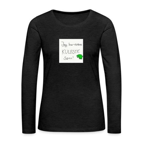 Kul sønn - Premium langermet T-skjorte for kvinner