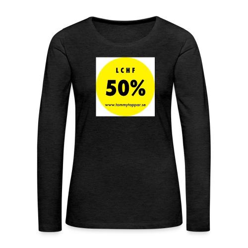 knapp 50 3 - Långärmad premium-T-shirt dam