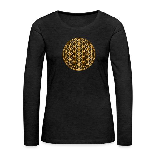 Flower of life GOLD 2 - Vrouwen Premium shirt met lange mouwen