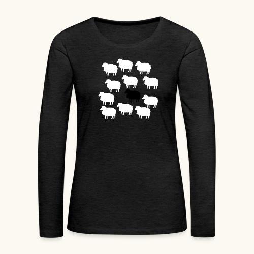 Lustige Schafherde Schwarzes Schaf Geschenkidee - T-shirt manches longues Premium Femme