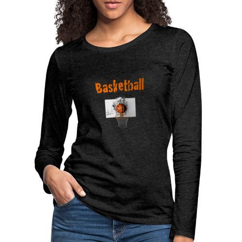 Money time BasketBall - T-shirt manches longues Premium Femme