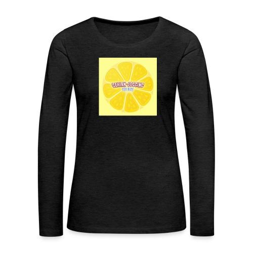 zitronetextur - Frauen Premium Langarmshirt