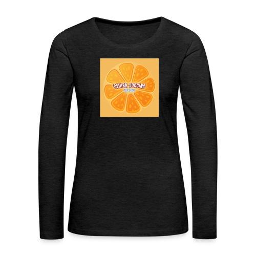 orangetextur - Frauen Premium Langarmshirt