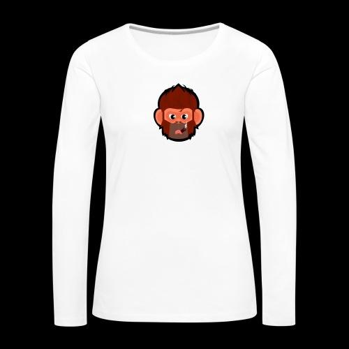 pogo clan Buttons & badges - Dame premium T-shirt med lange ærmer