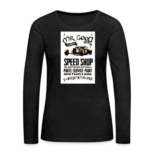 PEED SHOP - Maglietta Premium a manica lunga da donna