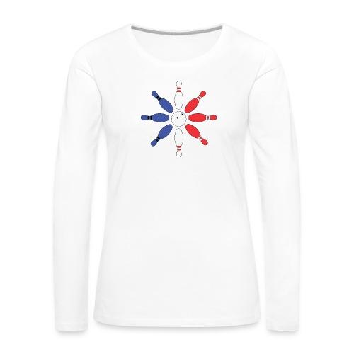 Roue de Quilles - T-shirt manches longues Premium Femme