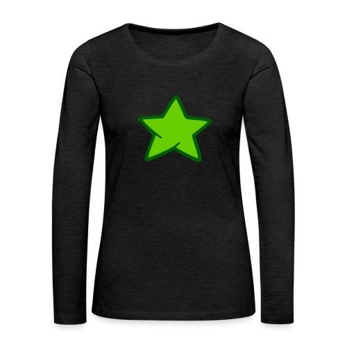 Estrella verde - Camiseta de manga larga premium mujer
