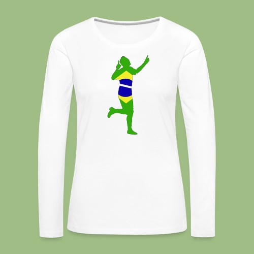 Neymár Brazil - Långärmad premium-T-shirt dam