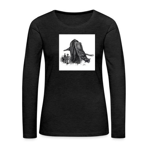 Walking the Triceratops 28 x 28 jpg - Women's Premium Longsleeve Shirt