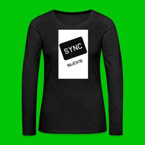 t-shirt-DIETRO_SYNK_SUCKS-jpg - Maglietta Premium a manica lunga da donna